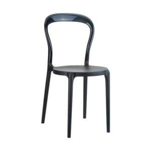 Stolička SI-Mr.BoBo v čiernom prevedení z technopolyméru.