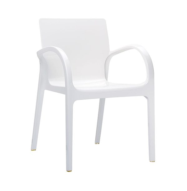 Dizajnové kreslo SI-Dejavu v bielej farbe.